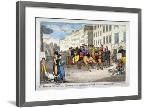 St James Street in an Uproar, or the Quack Artist and His Assailants, 1819-JL Marks-Framed Art Print