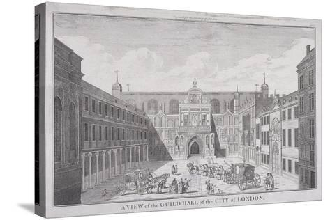 Guildhall, London, 1820-James B Allen-Stretched Canvas Print