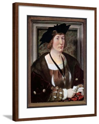 Portrait of Hendrik III, Count of Nassau-Breda, C1516-1517-Jan Gossaert-Framed Art Print