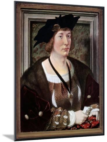 Portrait of Hendrik III, Count of Nassau-Breda, C1516-1517-Jan Gossaert-Mounted Giclee Print