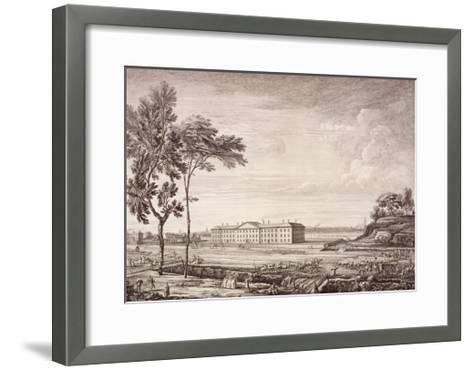 View of the London Hospital in Whitechapel Road, 1753-Jean Baptiste Claude Chatelain-Framed Art Print