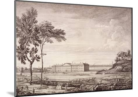 View of the London Hospital in Whitechapel Road, 1753-Jean Baptiste Claude Chatelain-Mounted Giclee Print