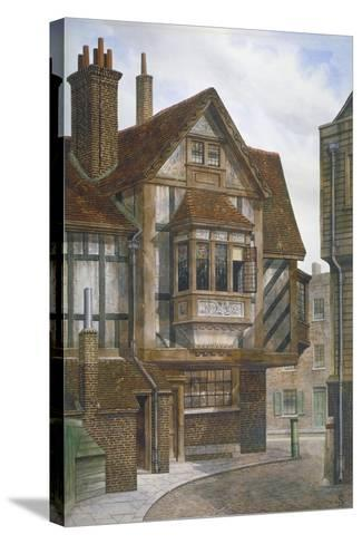 Houses in Bishopsgate, City of London, 1860-JL Stewart-Stretched Canvas Print