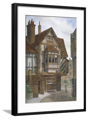 Houses in Bishopsgate, City of London, 1860-JL Stewart-Framed Art Print
