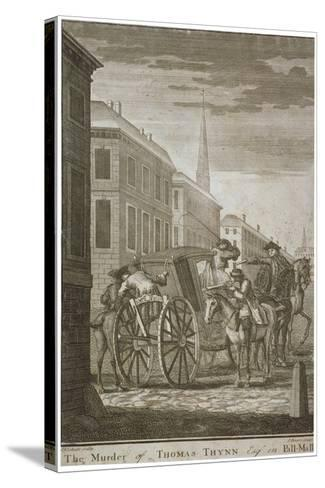 Scene of Thomas Thynne's Murder in Pall Mall, Westminster, London, 1682-James Basire I-Stretched Canvas Print