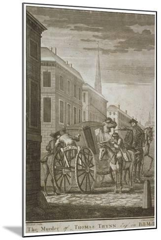 Scene of Thomas Thynne's Murder in Pall Mall, Westminster, London, 1682-James Basire I-Mounted Giclee Print