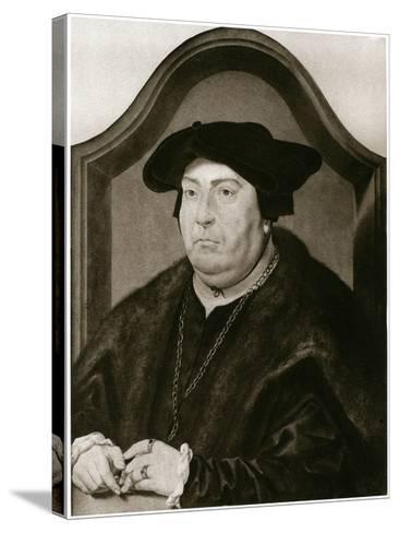 David of Burgundy-Jan Gossaert-Stretched Canvas Print