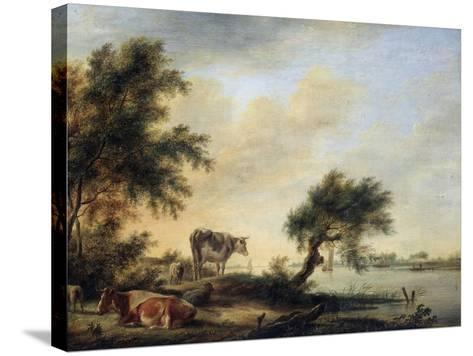 Landscape with a Herd, 18th Century-Jan Jansson-Stretched Canvas Print