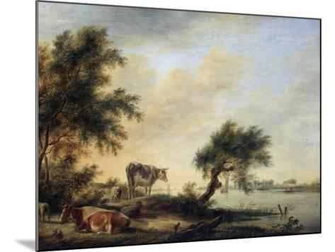 Landscape with a Herd, 18th Century-Jan Jansson-Mounted Giclee Print