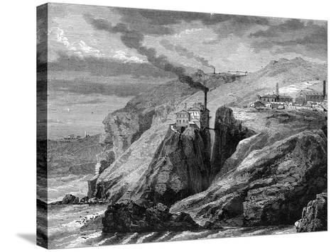 A View of Cornwall, England, 19th Century-Jean Baptiste Henri Durand-Brager-Stretched Canvas Print