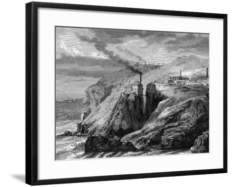A View of Cornwall, England, 19th Century-Jean Baptiste Henri Durand-Brager-Framed Art Print