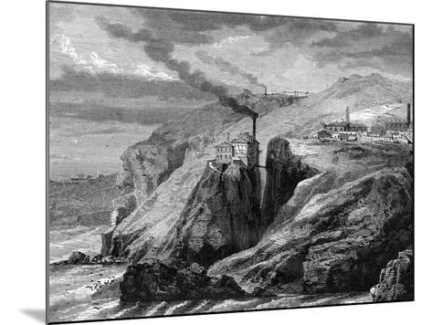 A View of Cornwall, England, 19th Century-Jean Baptiste Henri Durand-Brager-Mounted Giclee Print
