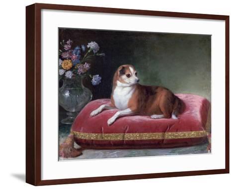 The Bitch on a Cushion, C1694-1735-Jean Ranc-Framed Art Print