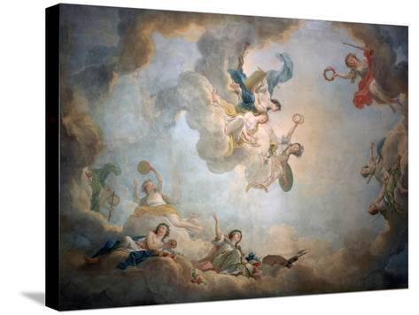 Ceiling of Marie Antoinette's Playroom, Chateau De Fontainbleau, C1763-1811-Jean Simon Berthelemy-Stretched Canvas Print