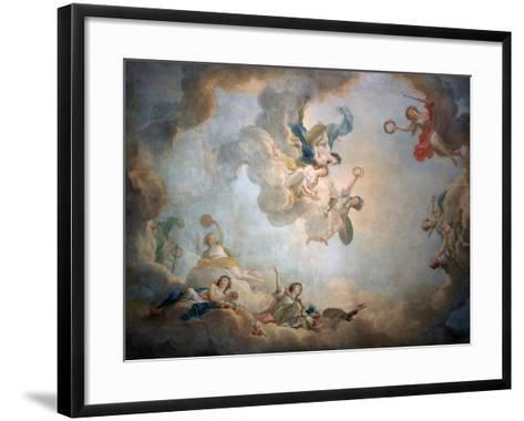 Ceiling of Marie Antoinette's Playroom, Chateau De Fontainbleau, C1763-1811-Jean Simon Berthelemy-Framed Art Print