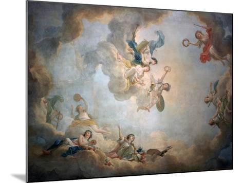 Ceiling of Marie Antoinette's Playroom, Chateau De Fontainbleau, C1763-1811-Jean Simon Berthelemy-Mounted Giclee Print