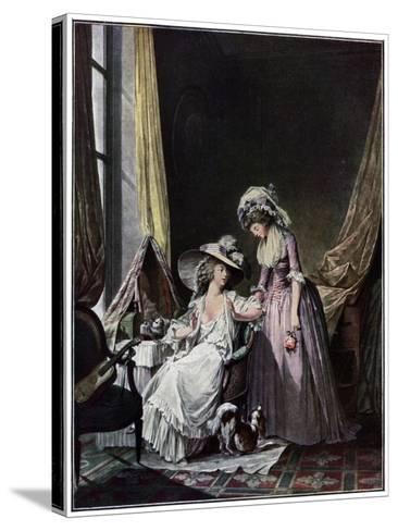 L'Aveu Difficile, 1786-Jean-François Janinet-Stretched Canvas Print