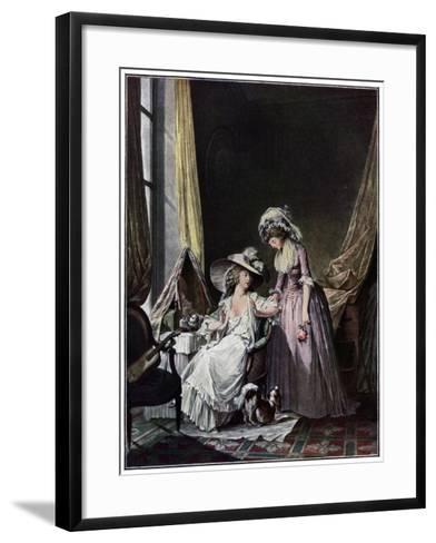 L'Aveu Difficile, 1786-Jean-François Janinet-Framed Art Print