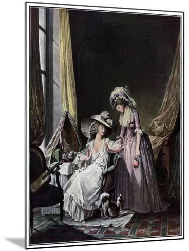 L'Aveu Difficile, 1786-Jean-François Janinet-Mounted Giclee Print