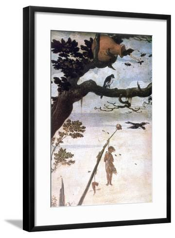 Landscape Scene, Legend of Saint Christopher, C1520-1559-Jan Mandyn-Framed Art Print