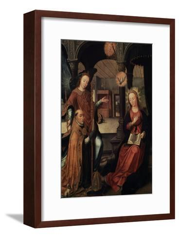 The Annunciation, (Triptych, Central Pane), 1517-Jean Bellegambe-Framed Art Print