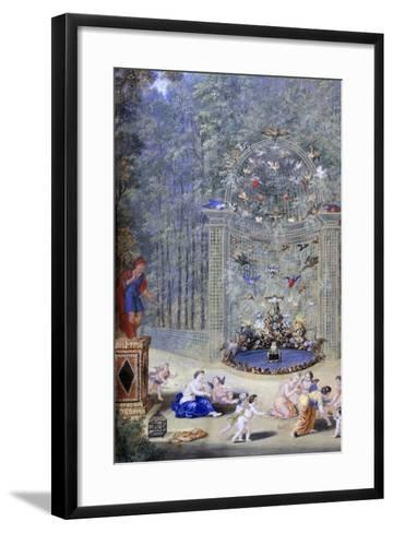 Entrance to the Maze at Versailles, 1693-Jean, the younger Cotelle-Framed Art Print