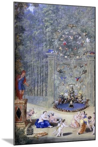 Entrance to the Maze at Versailles, 1693-Jean, the younger Cotelle-Mounted Giclee Print
