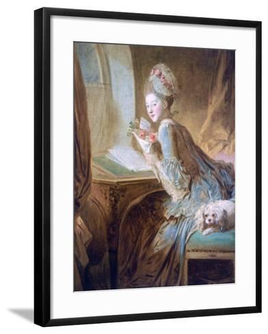 The Love Letter, C1770-Jean-Honore Fragonard-Framed Art Print