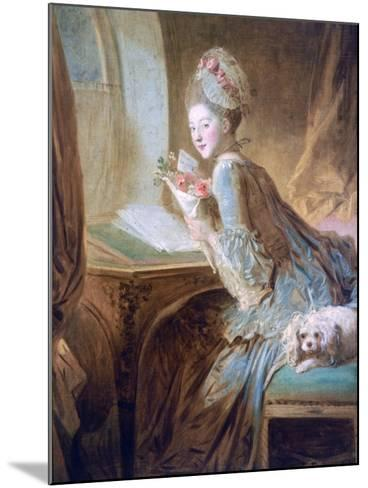 The Love Letter, C1770-Jean-Honore Fragonard-Mounted Giclee Print