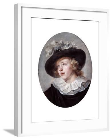 Portrait of a Young Man, 18th-Early 19th Century-Jean-Honore Fragonard-Framed Art Print