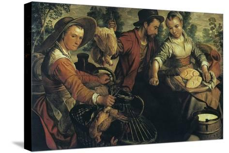 At the Market, C1554-1574-Joachim Beuckelaer-Stretched Canvas Print