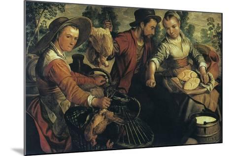 At the Market, C1554-1574-Joachim Beuckelaer-Mounted Giclee Print