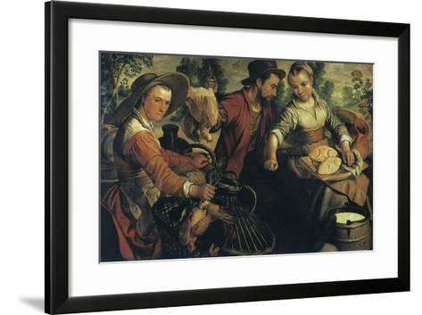 At the Market, C1554-1574-Joachim Beuckelaer-Framed Art Print