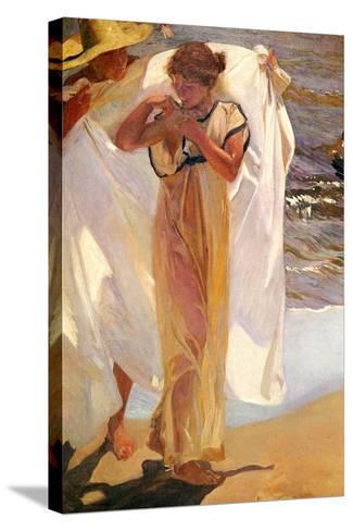 After the Bath, 1908-Joaquin Sorolla y Bastida-Stretched Canvas Print