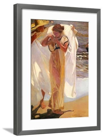 After the Bath, 1908-Joaquin Sorolla y Bastida-Framed Art Print