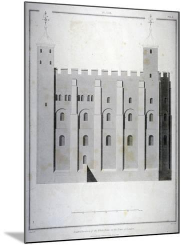 South Elevation of the White Tower, Tower of London, 1815-James Basire II-Mounted Giclee Print