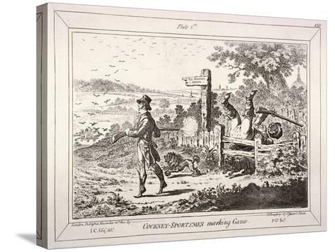 Cockney Sportsmen, London, 1800-James Gillray-Stretched Canvas Print