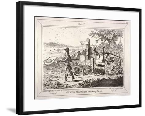 Cockney Sportsmen, London, 1800-James Gillray-Framed Art Print