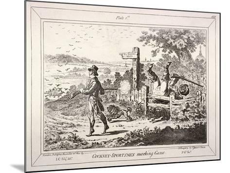 Cockney Sportsmen, London, 1800-James Gillray-Mounted Giclee Print