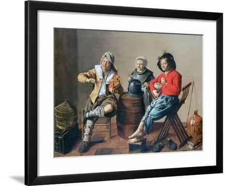Two Boys and a Girl Making Music, 1629-Jan Miense Molenaer-Framed Art Print