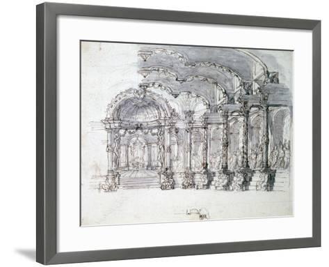 Set Design for the Opera 'Proserpine, C1680-Jean Berain-Framed Art Print