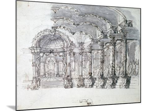 Set Design for the Opera 'Proserpine, C1680-Jean Berain-Mounted Giclee Print