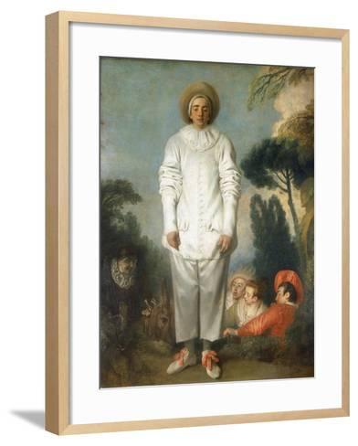 Gilles - Pierrot, 1718-1719-Jean-Antoine Watteau-Framed Art Print