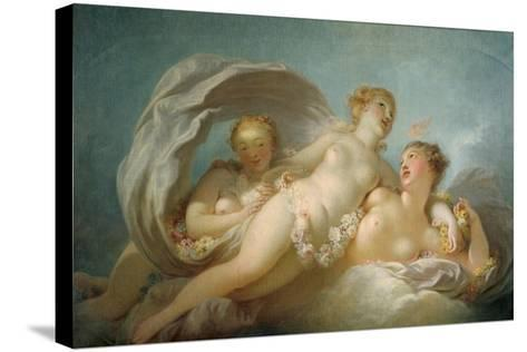 The Three Graces, 18th Century-Jean-Honore Fragonard-Stretched Canvas Print