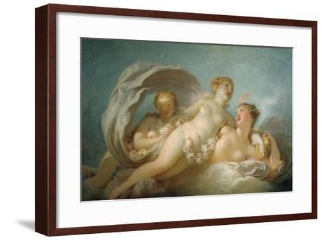 The Three Graces, 18th Century-Jean-Honore Fragonard-Framed Art Print