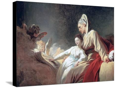 Education of the Virgin, C1773-Jean-Honore Fragonard-Stretched Canvas Print