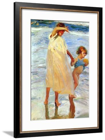 The Two Sisters, 1909-Joaquin Sorolla y Bastida-Framed Art Print