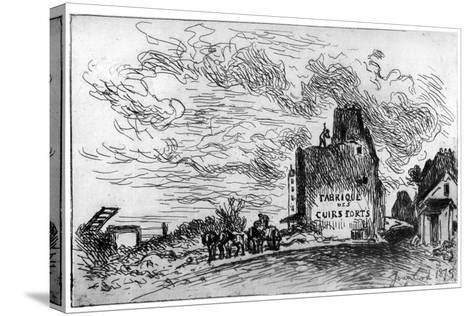Demolition, C1840-1890-Johan Barthold Jongkind-Stretched Canvas Print