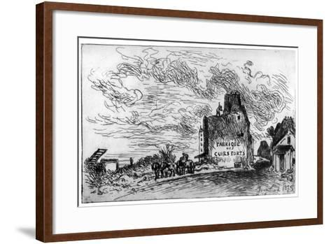 Demolition, C1840-1890-Johan Barthold Jongkind-Framed Art Print
