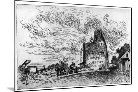 Demolition, C1840-1890-Johan Barthold Jongkind-Mounted Giclee Print
